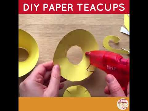 DIY paper tea cup