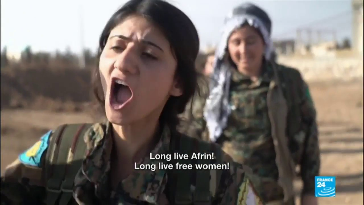 Syria: Kurdish women fighters vow to avenge soldier's death