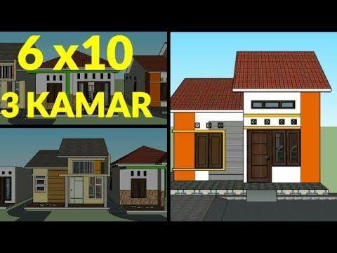 Desain Rumah Minimalis Ukuran 6x8  desain rumah sederhana minimalis ukuran 6x10 meter 3 kamar