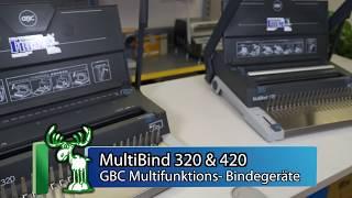 MultiBind 320 / MultiBind 420 Drahtbindemaschine  für  Plastikbinderücken Blätter Binden