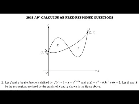 2015 AP Calculus AB Free Response question 2