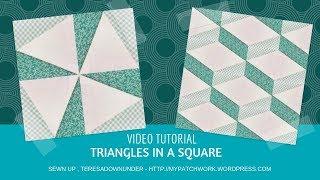 Triangles in a square video tutorial