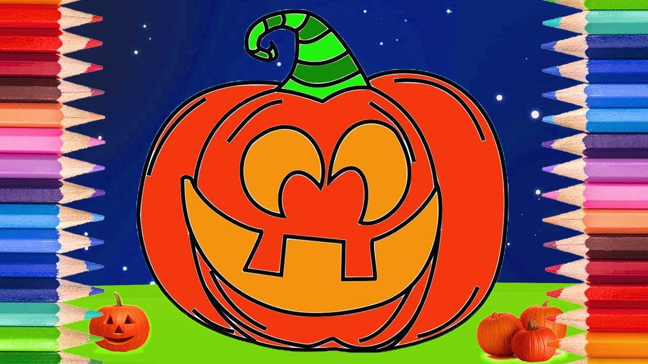 How to Draw a Jack O Lantern Pumpkin | Halloween Coloring Pages for ...