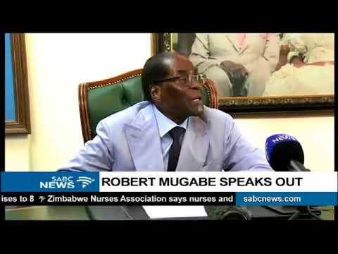 MUGABE BREAKS THE SILENCE 15 MARCH 2018