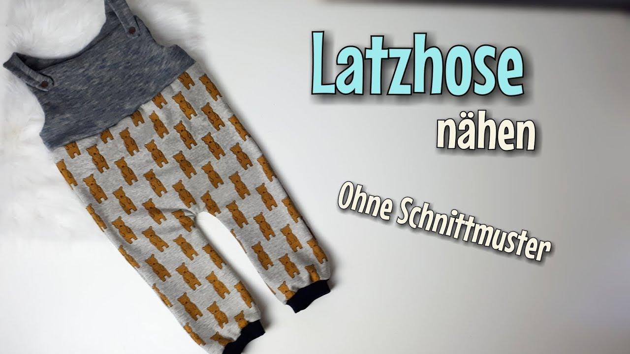 Latzhose - Nähanleitung OHNE Schnittmuster - Für Anfänger ...