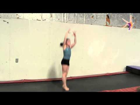 1/2 turn, wolf jump, 1/2 turn --- drill for turning gymnastics jumps
