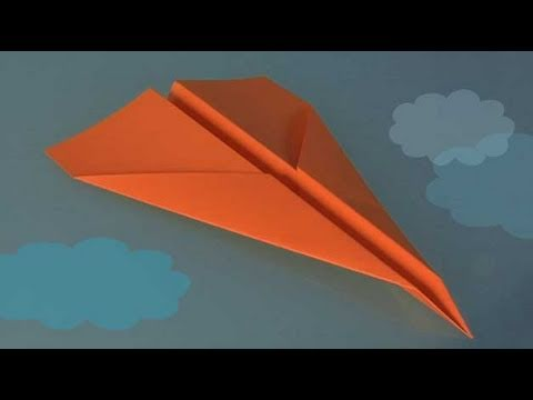 comment faire origami un avion en papier youtube. Black Bedroom Furniture Sets. Home Design Ideas