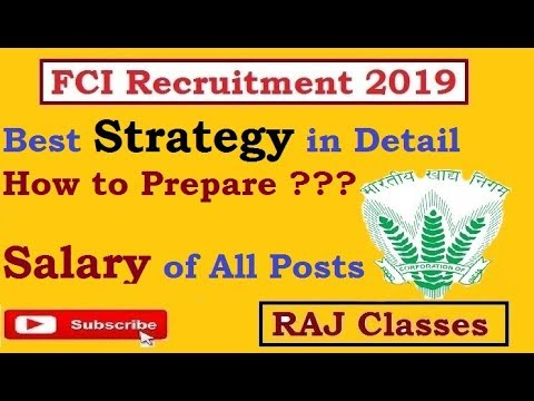 FCI Recruitment 2019 || Strategy || Books || Salary of all Posts || Check All Details Here