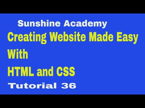 Creating Website With HTML & CSS Tutorial 36