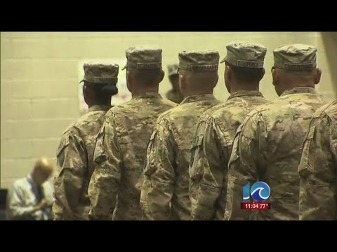 Soldier company returns from Afghanistan minus three