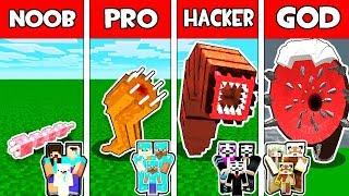Minecraft - NOOB vs PRO vs HACKER vs GOD : FAMILY GIANT WORM EVOLUTION in Minecraft Animation