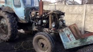 наши в Германии,сломался немецкий трактор 60-х,первый ремонт мтз 50