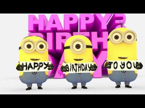 Minions Sing Happy Birthday Song Song S Children Youtube