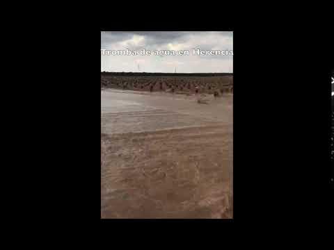 Tromba de agua en Herencia (ciudad Real)