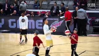 160212 Kris Wu - NBA All Star Celebrity Game before starting the game & 6 points shot