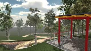 Chotkovo sedátko v Lochotínském parku (vizualizace)