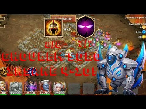 War God | Unholy Pact | Ghoulem | Insane Dungeon 4-10 Solo | Gameplay | Castle Clash