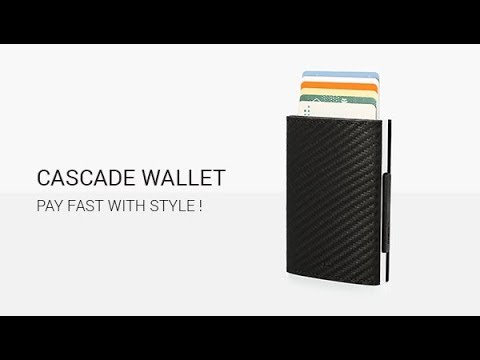 CASCADE LEATHER WALLET : Pay fast with style !