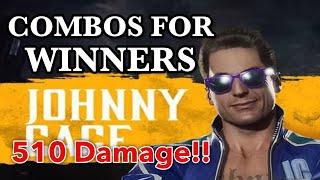 MK11 Johnny Cage Combo Video [Mortal Kombat 11]