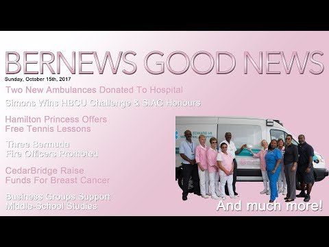 "Bernews ""Good News"" Sunday Spotlight, October 15, 2017"