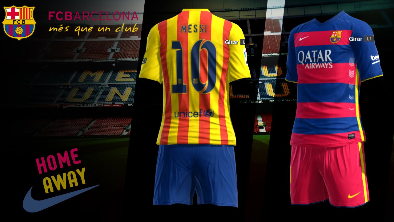 43c0a387f Pes 2013 FC Barcelona New Kits 2015 16 Leaked  Download  - YouTube