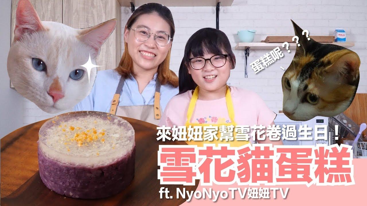 跟妞妞一起做貓咪生日蛋糕!雪花貓蛋糕【貓副食食譜】好味貓廚房EP108 - YouTube