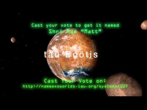 Naming ExoWorlds tau Bootis & tau Bootis b to Indian Saint Sriram Matt and Mata Bhagawati Devi