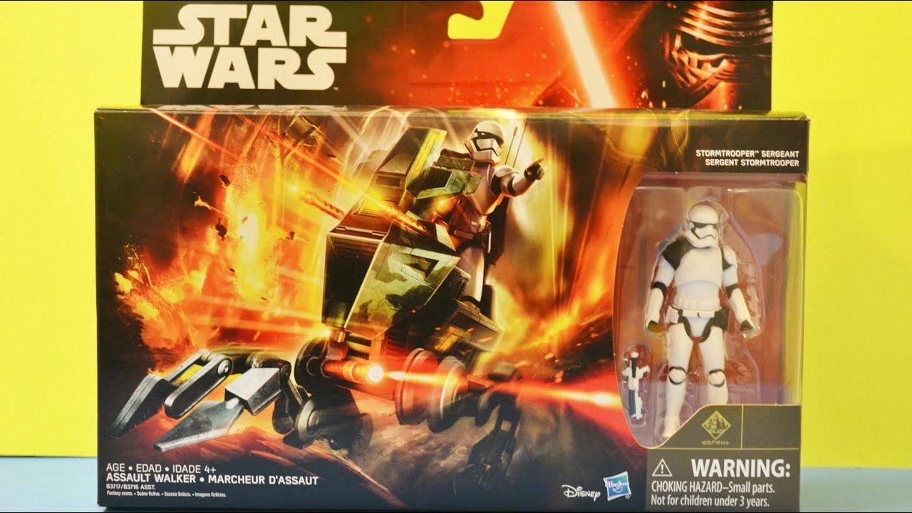 Star wars the force awakens assault walker vehicle and stormtrooper