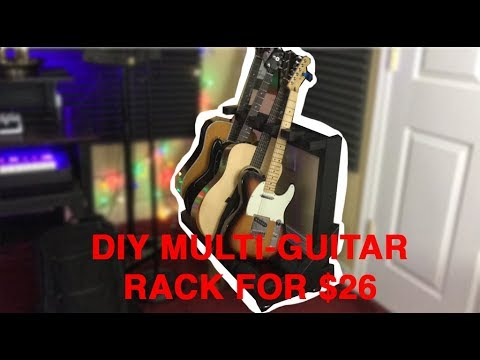 How To Build A DIY Multi-Guitar Rack Stand for $26