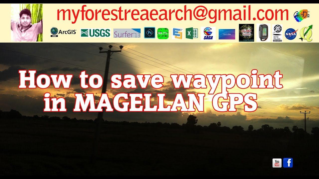 How to save waypoint in magellan gps