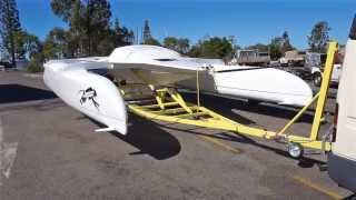 Surtees S-22 Folding High Performance Catamaran - First Launch