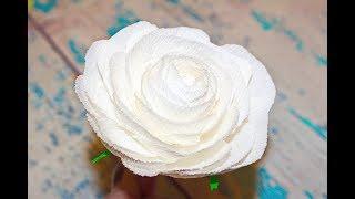 Красивая роза из гофрированной бумаги / Простой способ сделать цветы / Rosa di carta crespa / DIY