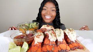 LOBSTER TAILS SEAFOOD BOIL MUKBANG 먹방 | EATING SHOW