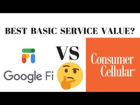 Consumer Cellular review vs Google Fi review basic calling plans