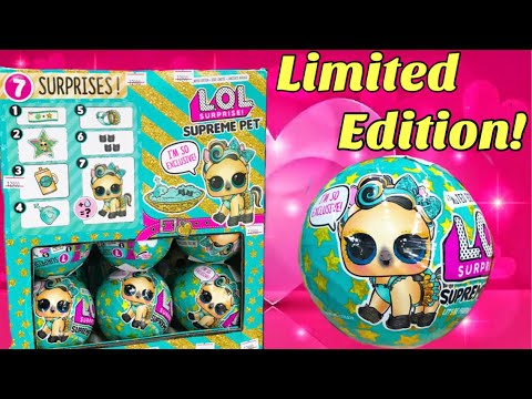 Limited Edition LOL Surprise SUPREME Pet Series Brand New