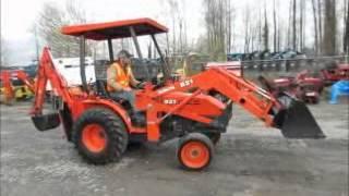 Sold! 2006 Kubota B21 Tractor Loader Backhoe Farm Ag Utility HST bidadoo.com