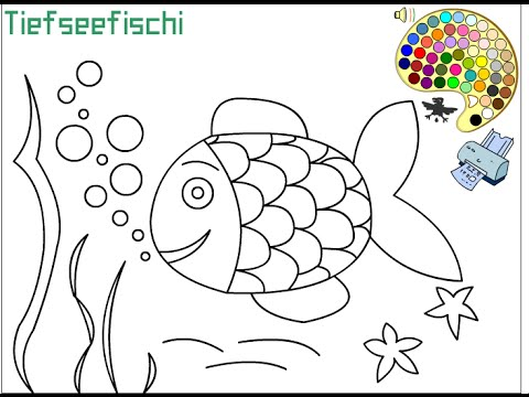 Tropical Fish Coloring Pages For Kids