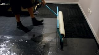 Stick n Protect Carpet & Floor plastic film dispenser installation