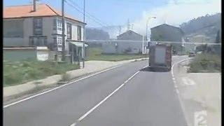 [Feux de forêt en Galice : intervention quotidienne des pompiers espagnols]