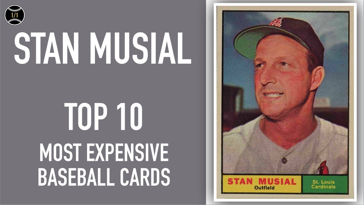 Stan Musial Top 10 Most Expensive Baseball Cards Sold On Ebay March May 2019