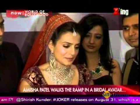 Amisha Patel Walks The Ramp In A Bridal Avatar