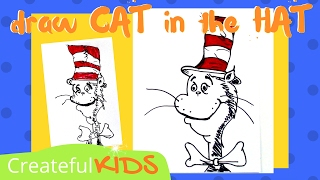 How To Draw Cat in the Hat from Dr. Seuss