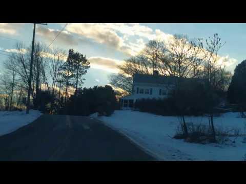 Winter Drive in the Monadnock Region
