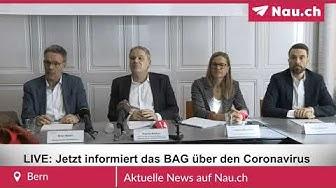LIVE aus Bern: Jetzt informiert das BAG über den Coronavirus