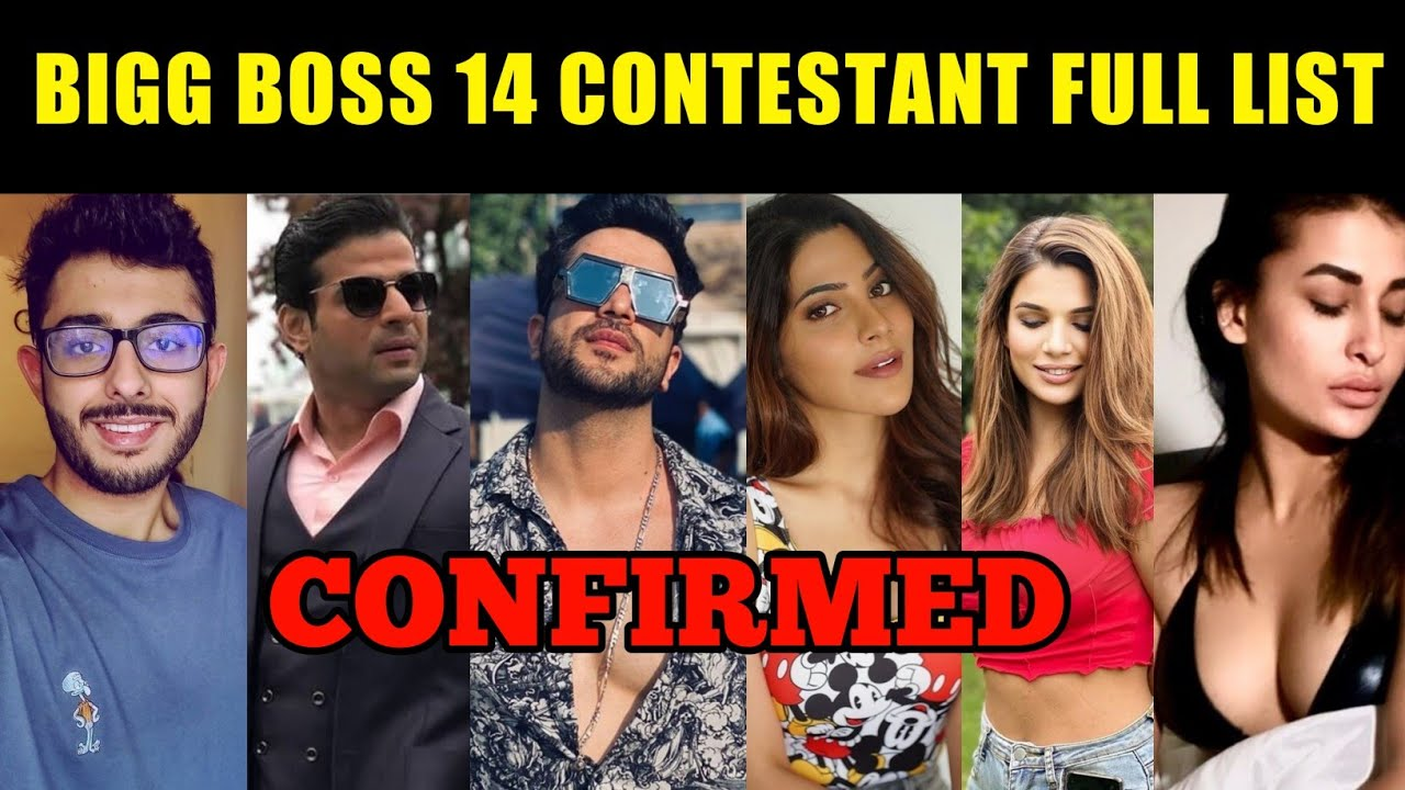 Bigg Boss 14 Contestants List, Bigg Boss 14 All Contestants Name, Carryminati, Karan Patel, Aly Goni
