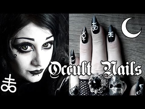 Matte Occult Nails! | Black Friday