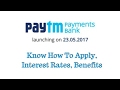 How To Open Paytm Payments Bank Savings Account