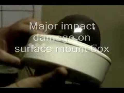 Bosch Flexidome impact test video IK10 rating to 85 Joules