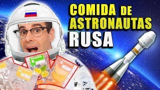 Probando COMIDA de ASTRONAUTAS RUSA   Comida Espacial Real