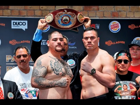 Weigh Ins: Andy Ruiz vs Joseph Parker